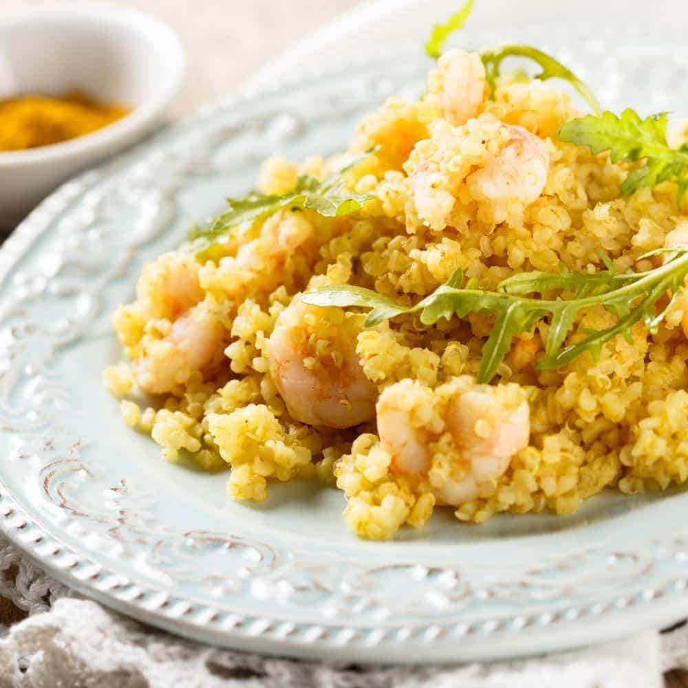 Quinoa con Gambas