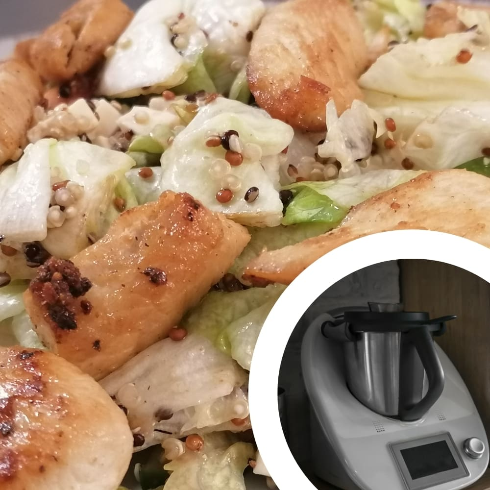 receta quinoa, pollo y verduras en thermomix