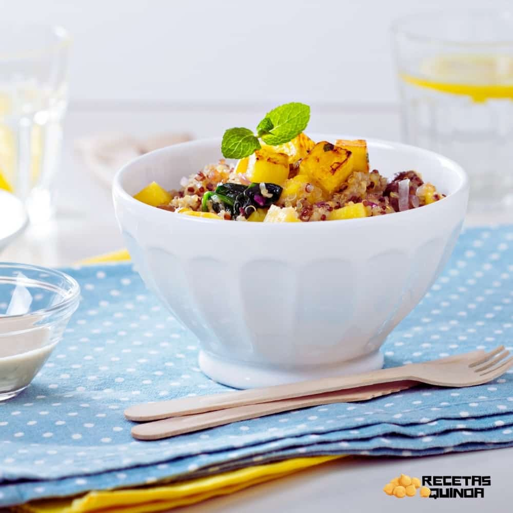 postre de quinoa y piña