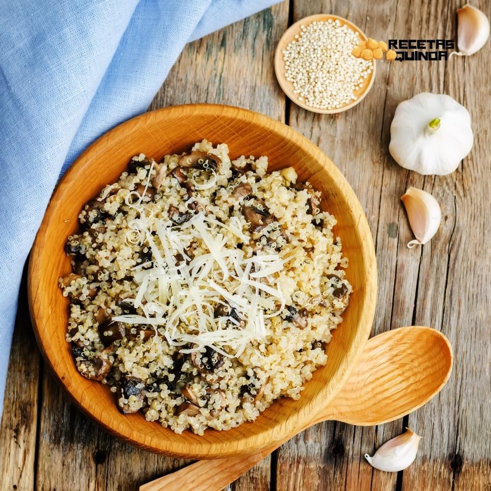 receta risotto de quinoa y champiñones