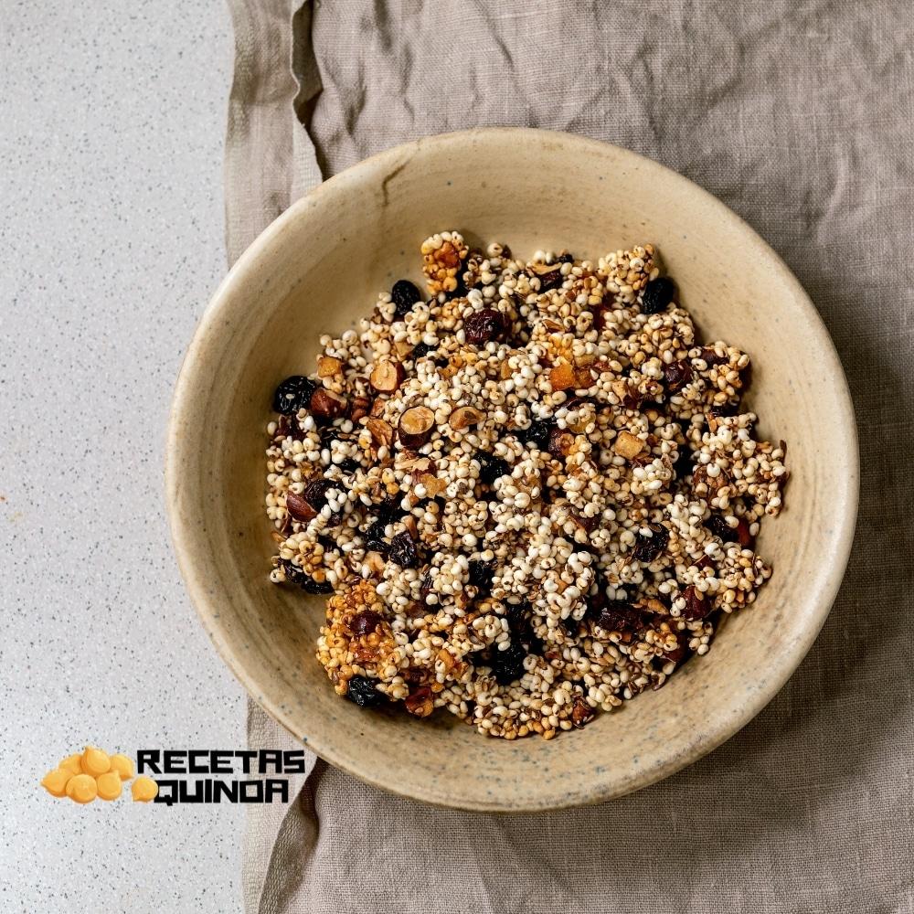 Receta de quinoa hinchada