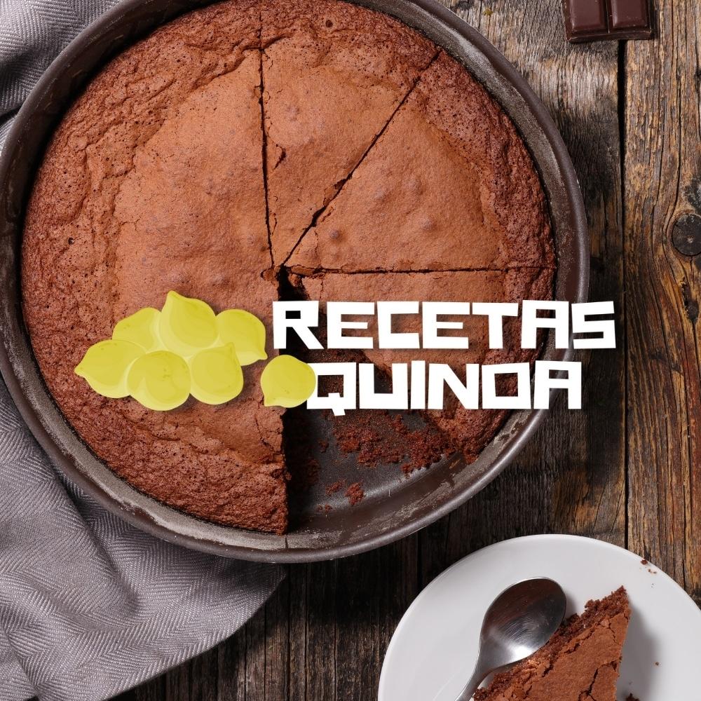 Tarta de chocolate hecha con quinoa