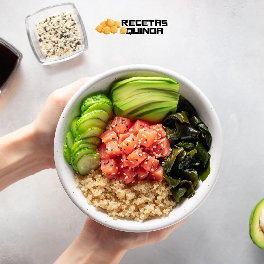 Receta de Poke de salmón y quinoa