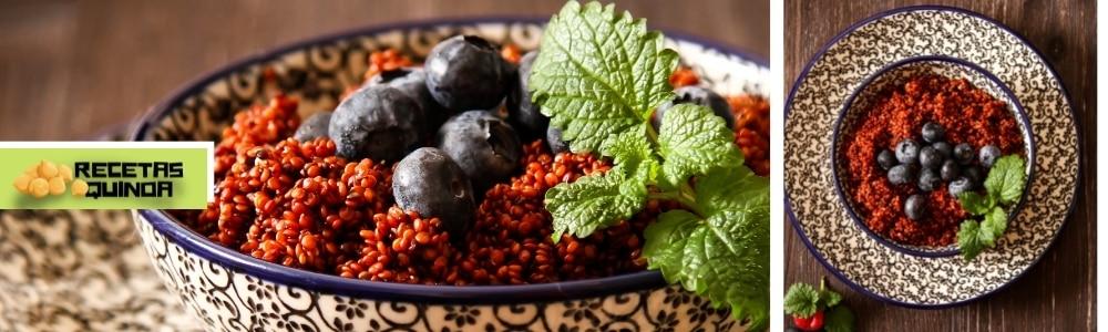 Receta de quinoa con arándanos
