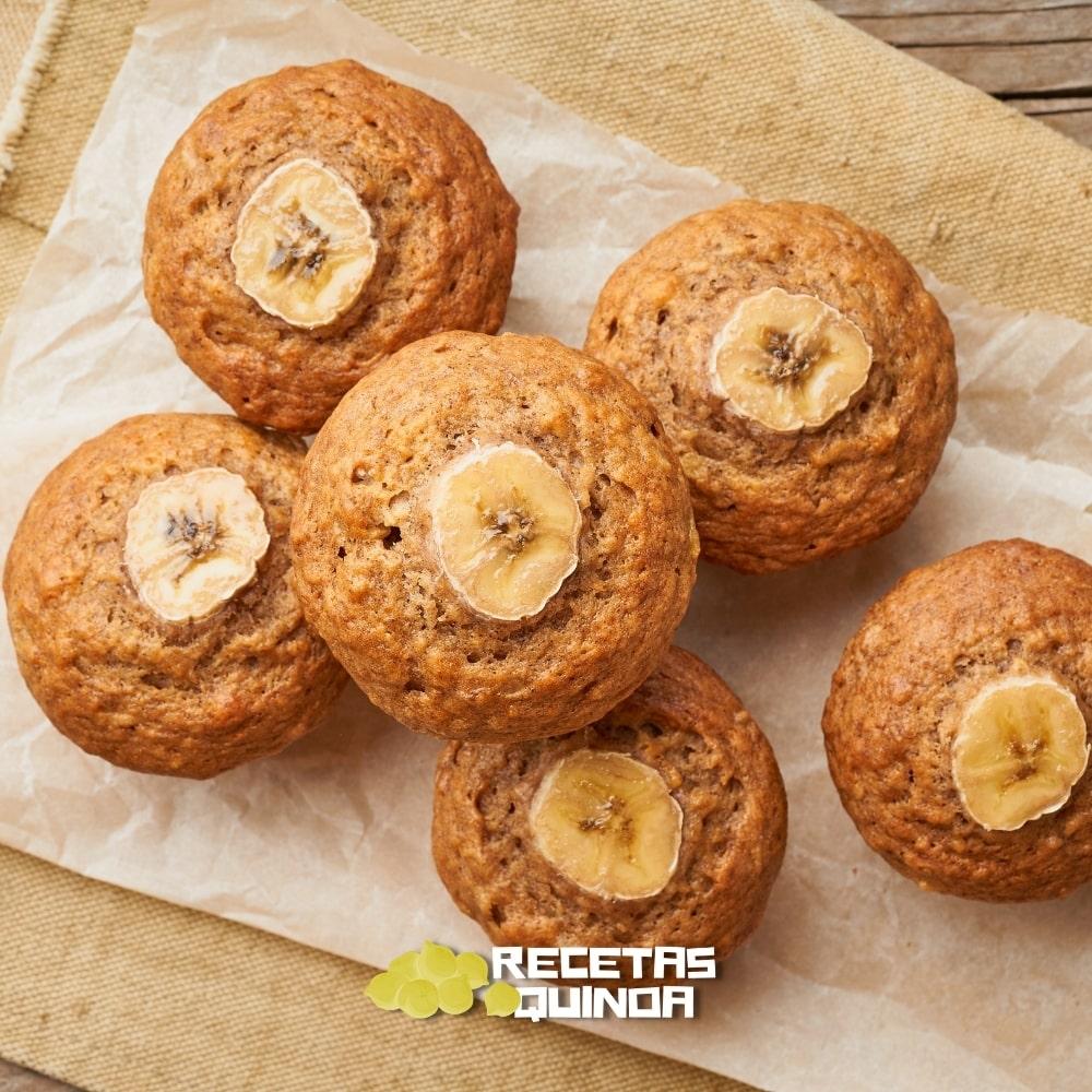 Muffins con harina de quinoa y plátano