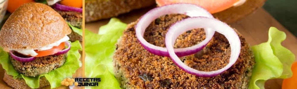 Hamburguesa de lentejas y quinoa