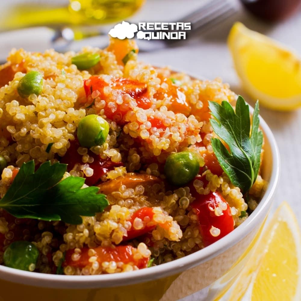 Receta de Paella de quinoa