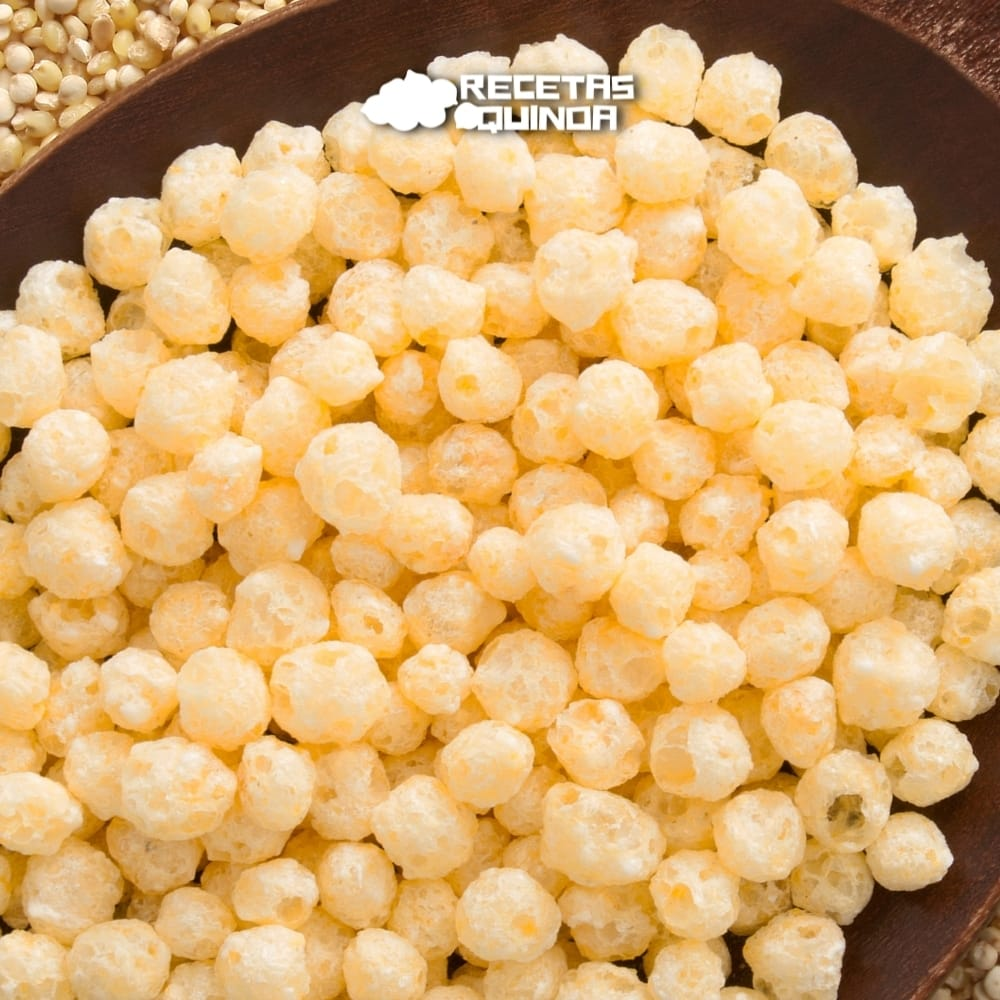 Receta de quinoa inflada